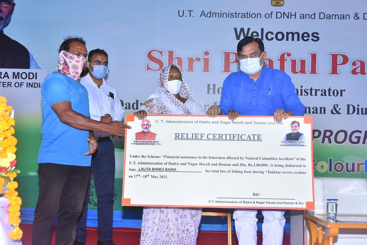 UT administration distributes ₹1,14,87,952 to 1,673 families affected by 'Taute'