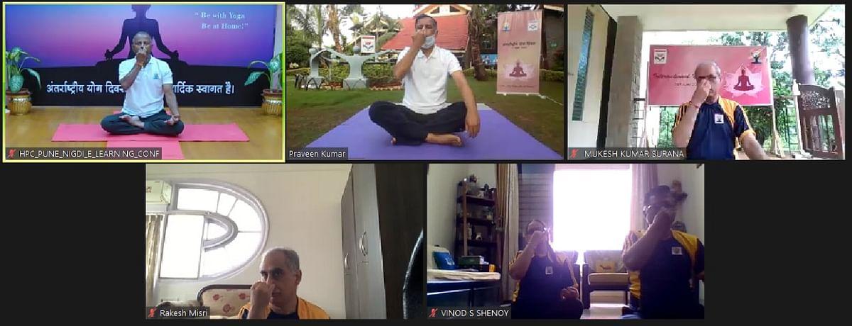 HPCL celebrates International Yoga Day
