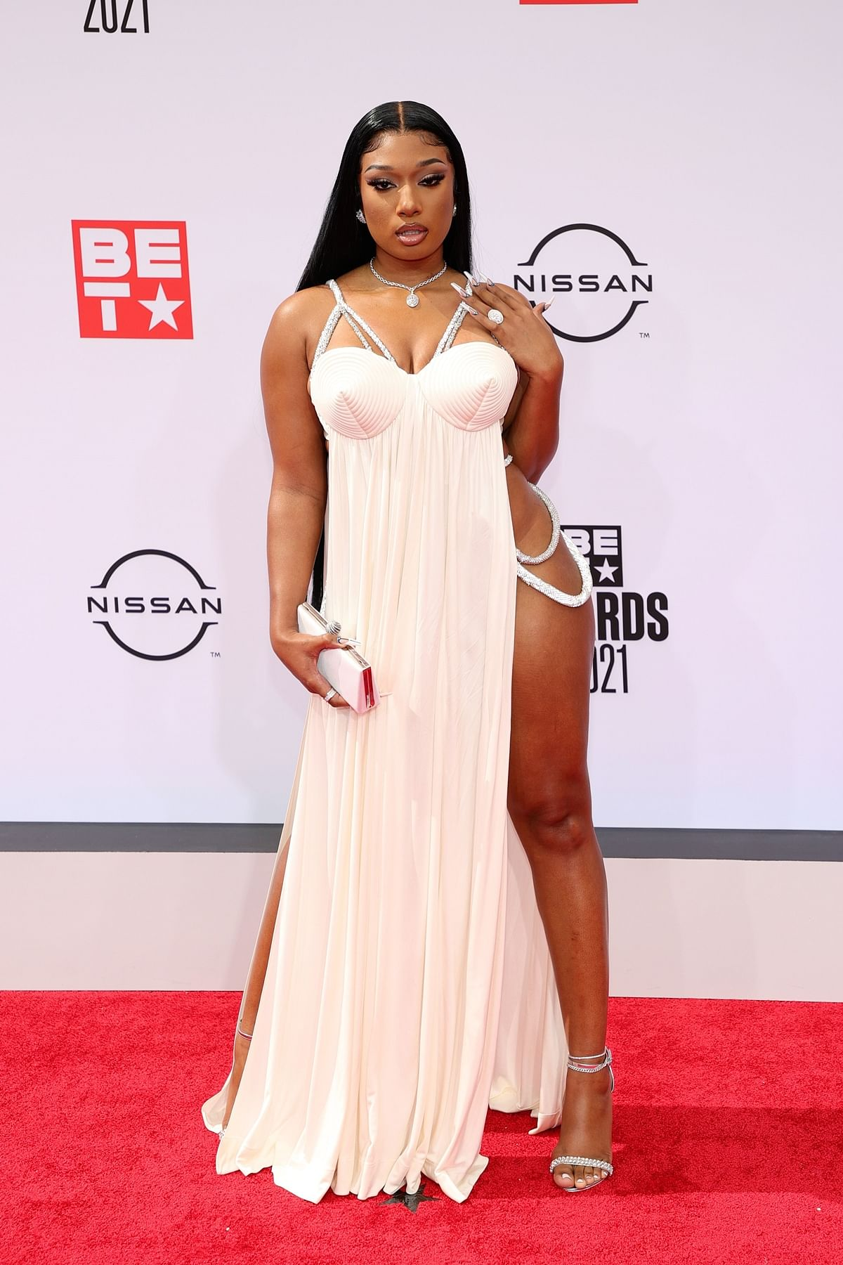 BET Awards 2021: Rapper Megan Thee Stallion leaves little to the imagination with her risqué outfit