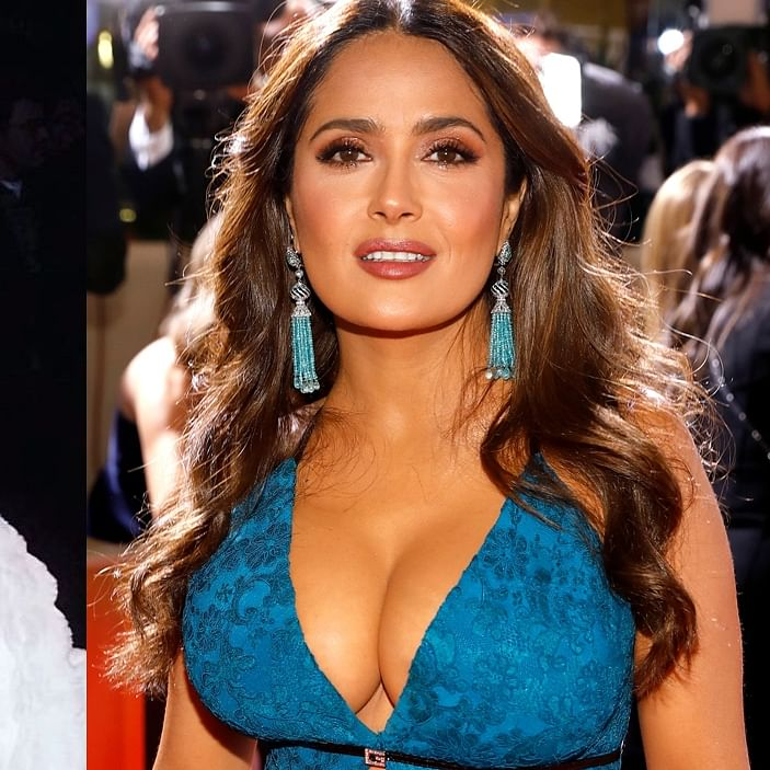 'My boobs just kept growing': Salma Hayek reveals how her breast size increased over the years