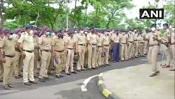 Navi Mumbai: Protestors including BJP workers hold demonstration over name of Int'l airport