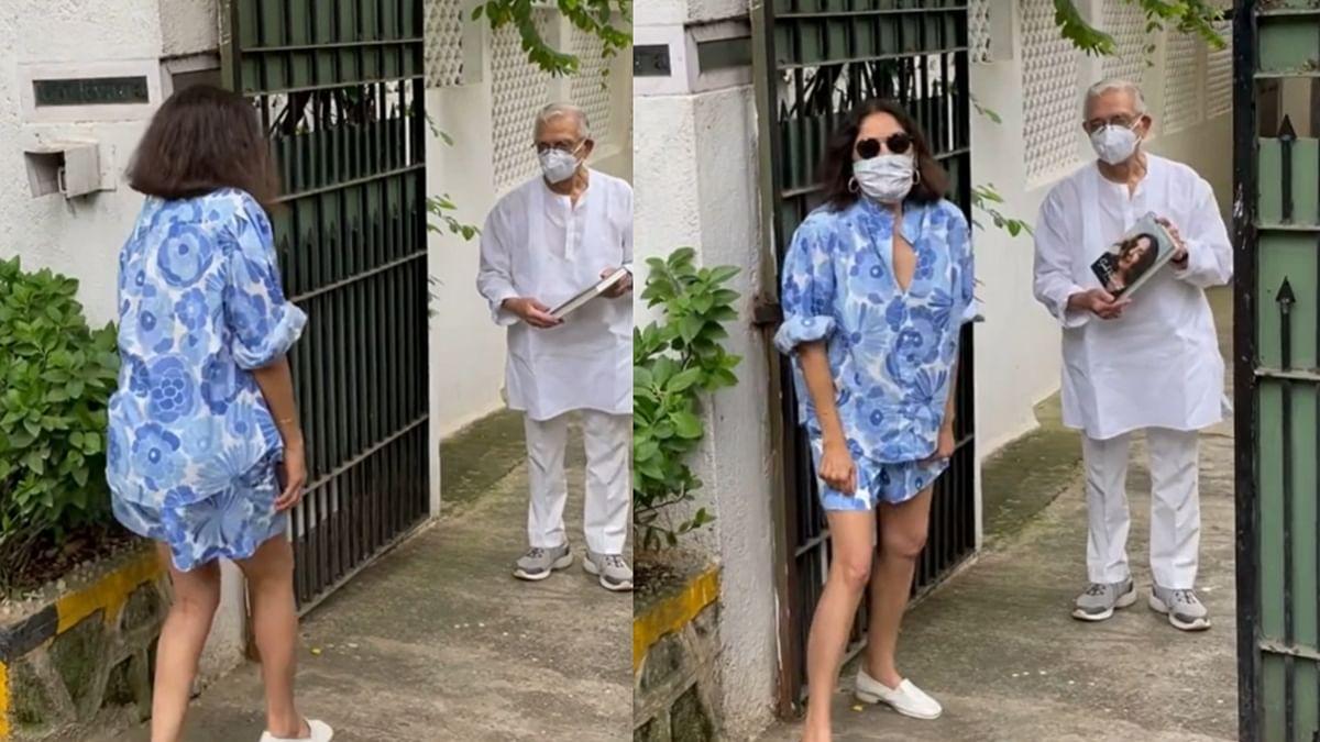 'Saree pehen ke jana chahiye tha': Neena Gupta trolled for meeting lyricist Gulzar in shorts