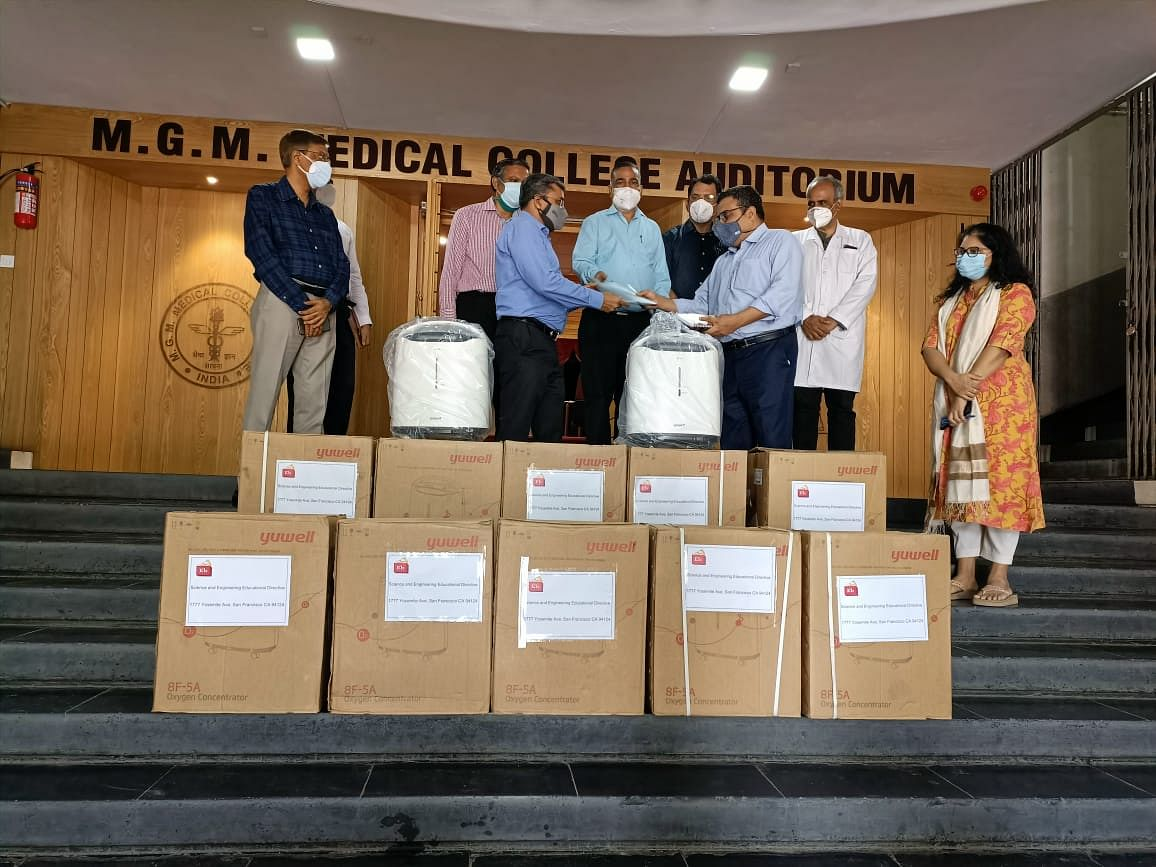 86 oxygen concentrators worth more than Rs 1 crore received  by Mahatma Gandhi Memorial Medical College