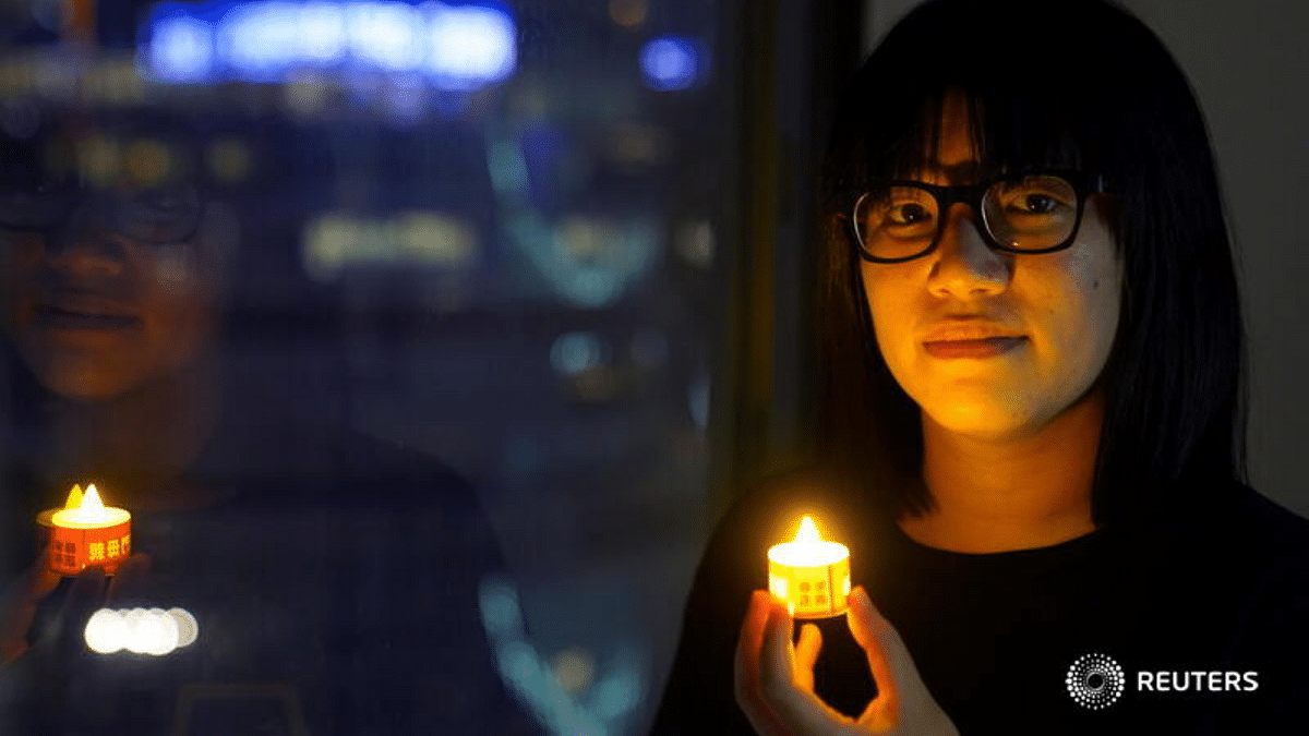 Hong Kong police arrest pro-democracy activist ahead of candlelight vigil marking Tiananmen crackdown; Twitter furious