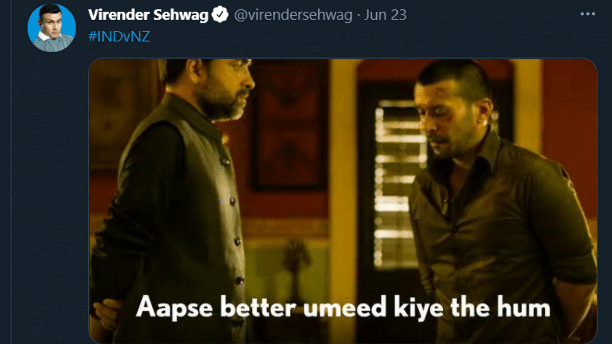 'Sehwag's got no chill': Cricketer's Mirzapur meme after India's loss in WTC final goes viral; netizens find it hilarious