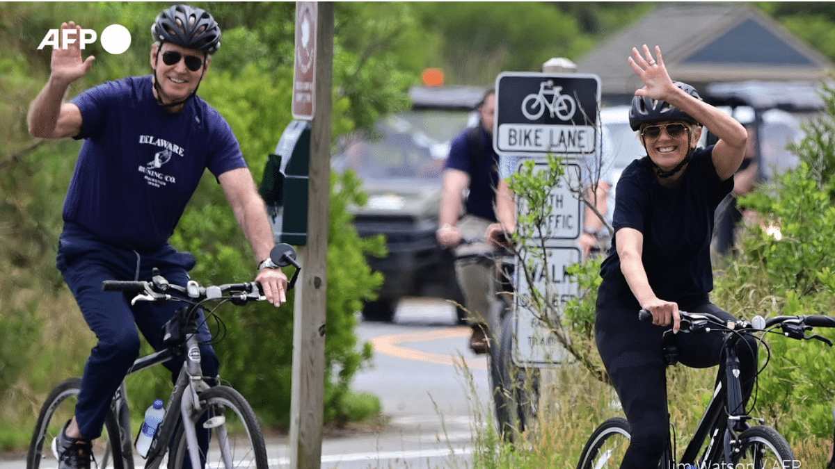 USA's first couple goes biking on Jill Biden's birthday; Twitterati fall in love with adorable photos