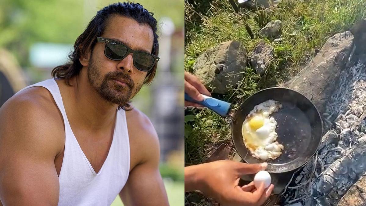 Watch: 'Haseen Dillruba' actor Harshvardhan Rane cooks breakfast alongside a river