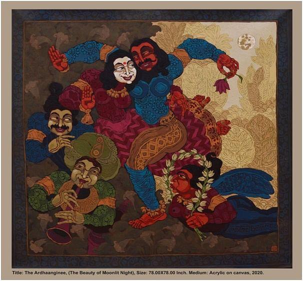Artwork by Alturaash Art panel, artist Pradipta Chakraborty