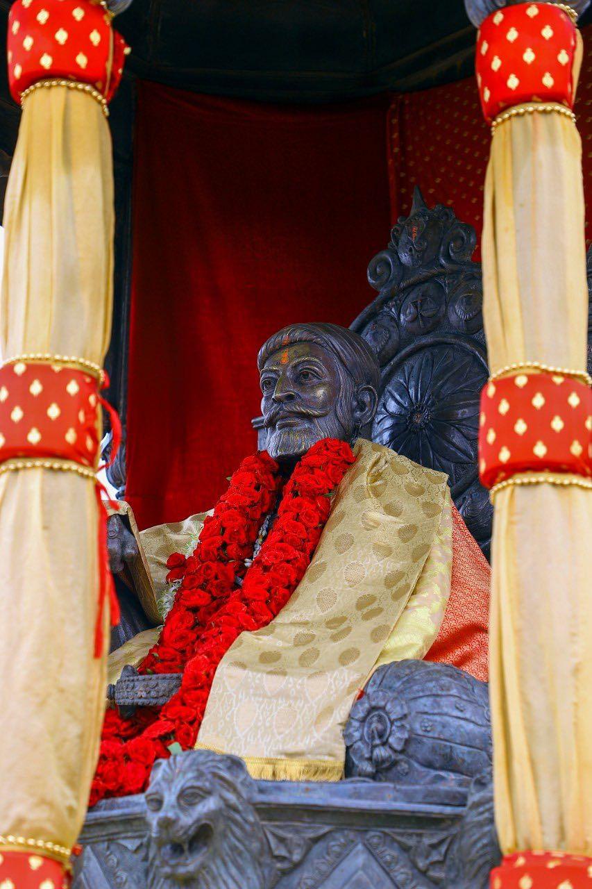 Shiv Rajyabhishek Din was celebrated  to commemorate the coronation day of the great Maratha warrior king Chhatrapati Shivaji Maharaj at the Raigad Fort on June 6, 2021.