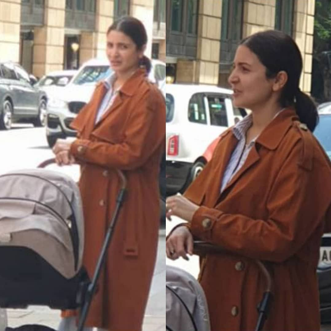 In Pics: Anushka Sharma steps out for a walk in UK with baby Vamika