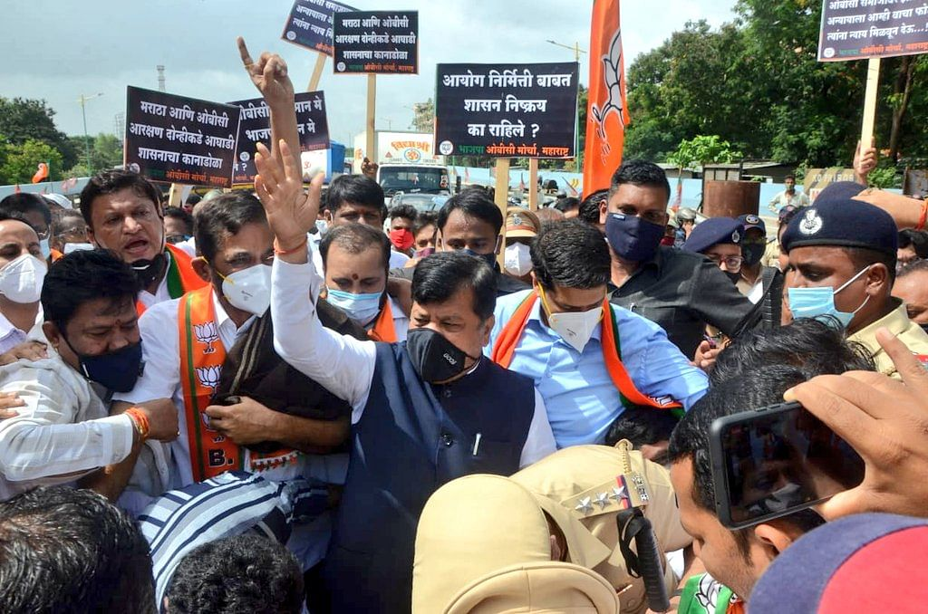 OBCs political quota in local bodies: BJP stages state-wide agitation against MVA government - Watch videos