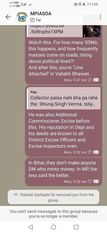 Screenshot of Jangid's post