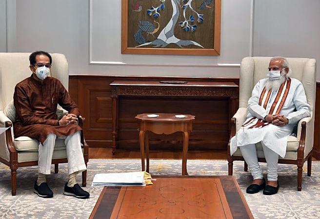 Maharashtra, June 08 (ANI): Maharashtra Chief Minister Uddhav Thackeray calls on Prime Minister Narendra Modi, in New Delhi on Tuesday.
