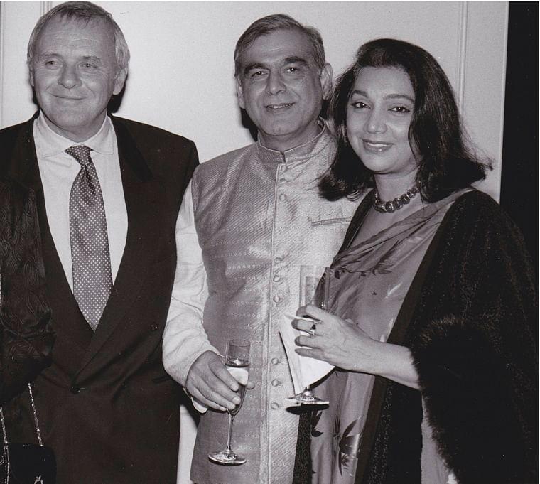 Asha Puthli with Anthony Hopkins and Ismail Merchant