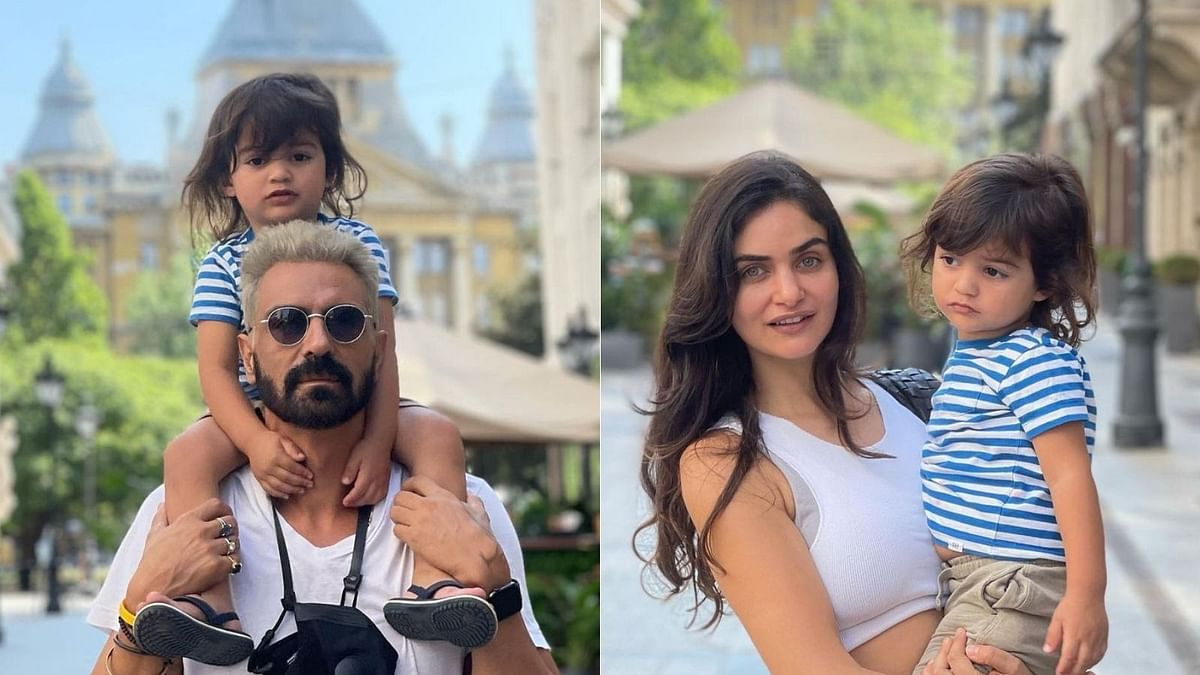 Photos: Arjun Rampal spends quality time with son Arik and girlfriend Gabriella in Budapest ahead of 'Dhaakad' shoot