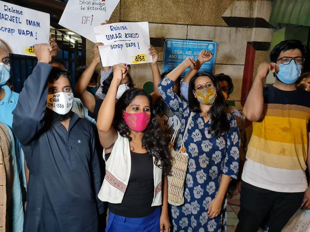 Delhi Riots: Student activists Natasha Narwal, Devangana Kalita, and Asif Iqbal Tanha walk out of Tihar jail