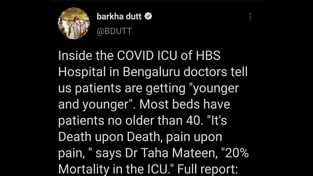 'Isn't this blatant violation?': Twitterati call out Journalist Barkha Dutt for reporting from ICU