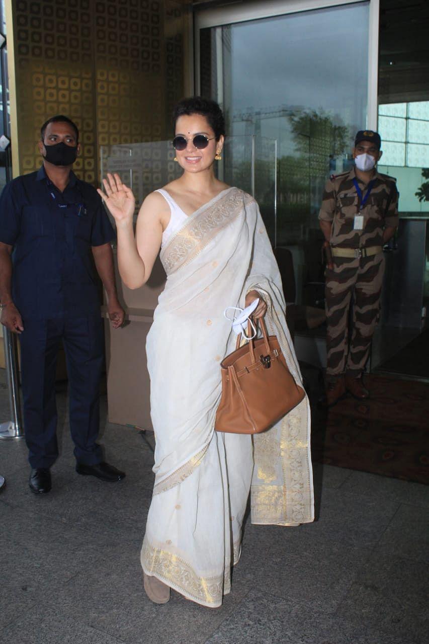 Kangana Ranaut at Mumbai airport