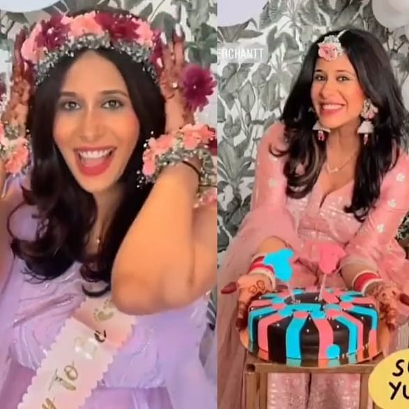 In Pics: Kishwer Merchantt glows in a lavender gown at her baby shower