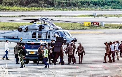 Colombian Prez unharmed after attack on helicopter