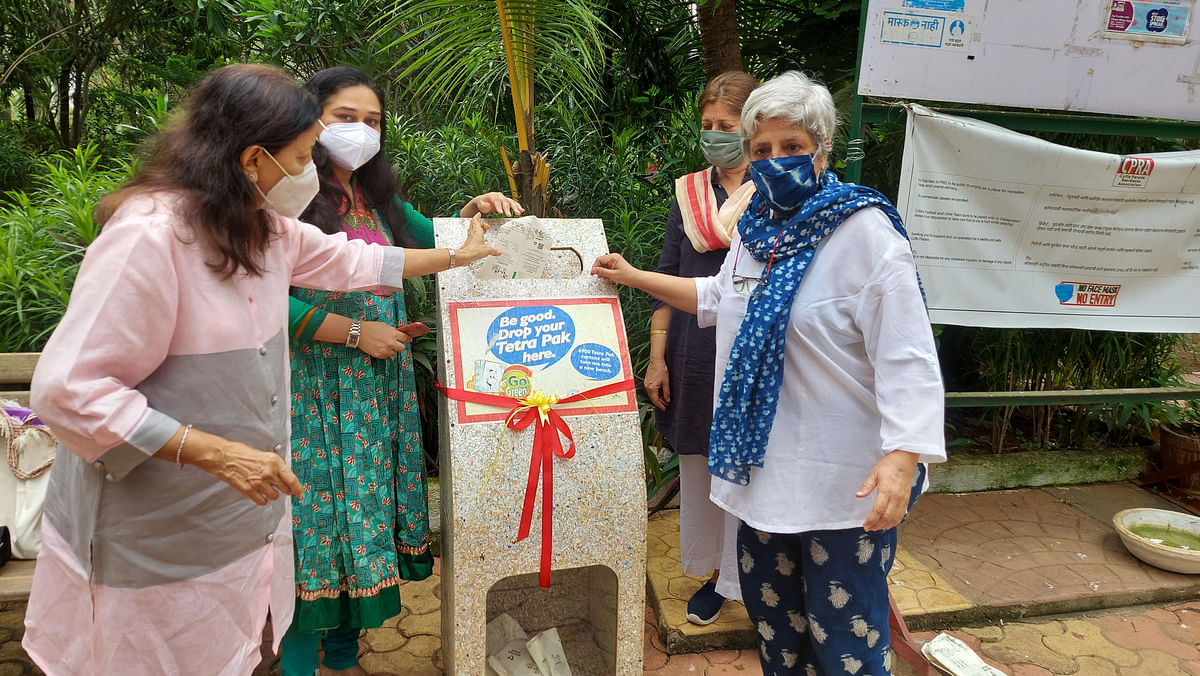 Mumbai: Collection of Tetrapaks launched at Bay View Marina For Cuffe Parade/Colaba residents on World Environment Day 2021
