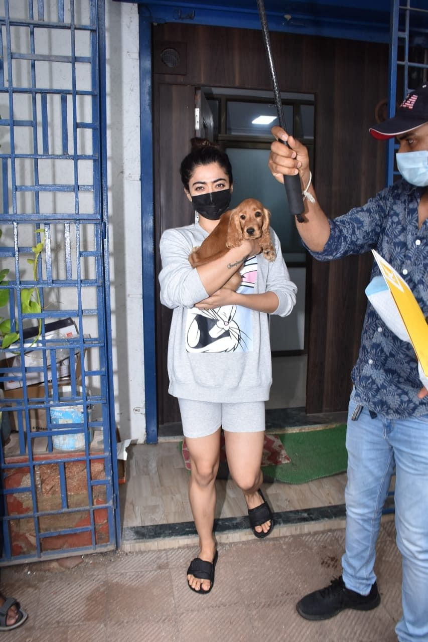 Rashmika Mandanna snapped in Andheri