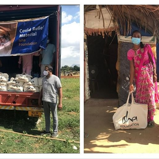 Covid-19: Isha Foundation stands with most vulnerable, distributes ration to tribals in Karnataka