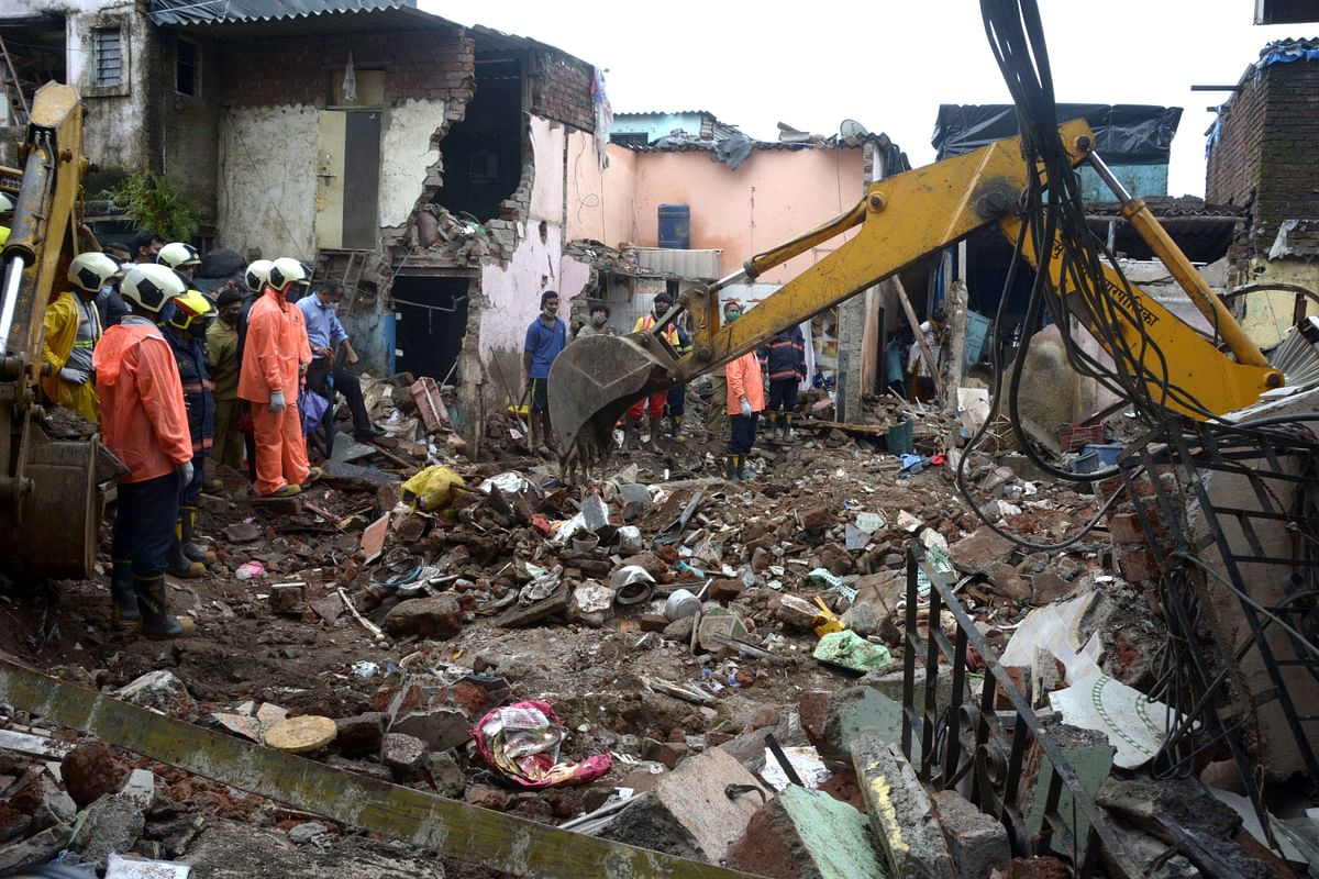 A file photo of the Malwani building collapse