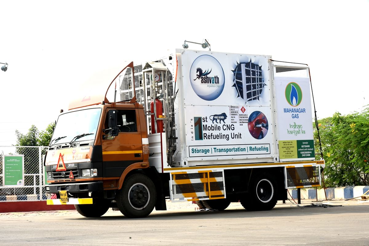 Mahanagar Gas Ltd introduces India's first mobile CNG refueling unit