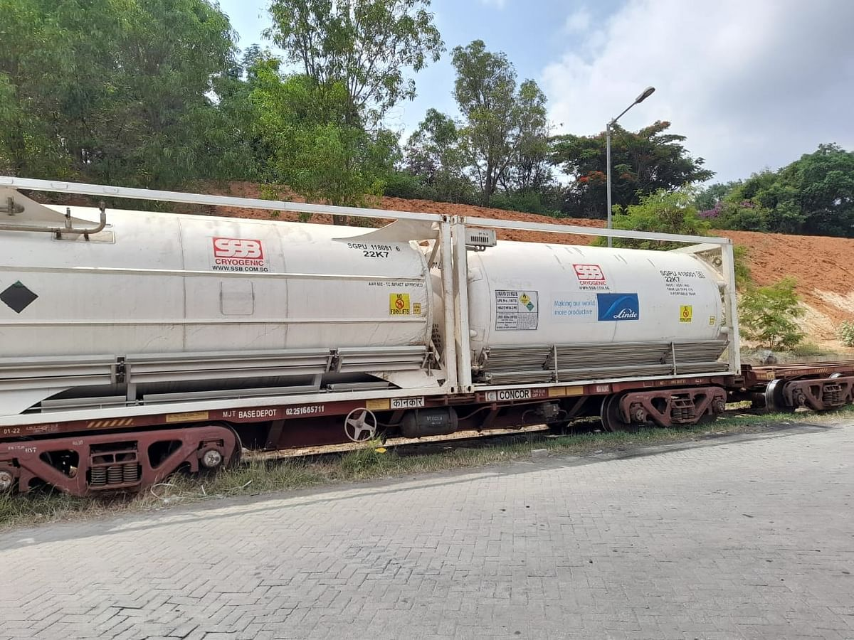 The 25th Oxygen Express reached ICD Whitefield Bengaluru on June 4
