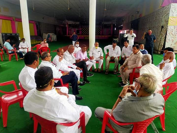 Meeting of District Congress Committee held at Mahakal Parisar