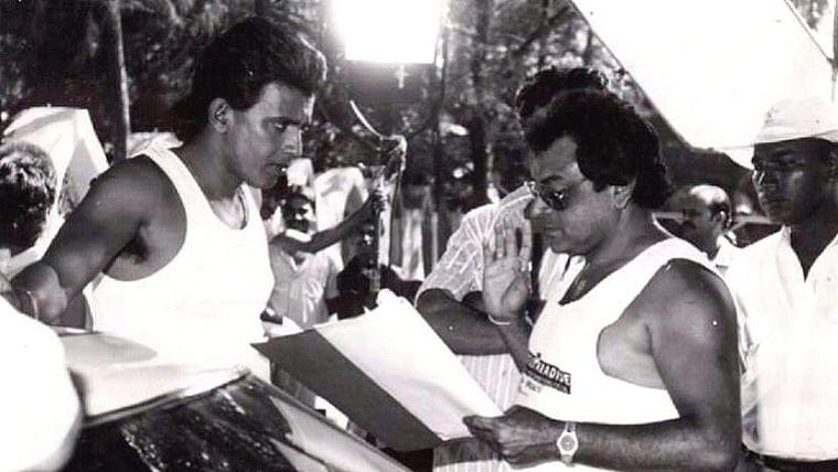 B Subhash with Mithun Chakraborty
