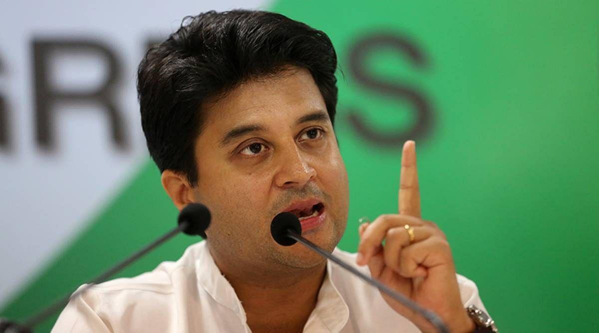 BJP Rajya Sabha member Jyotiraditya Scindia