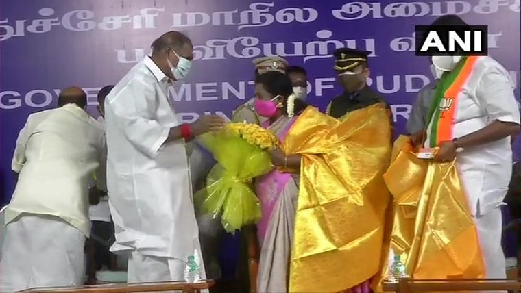 Puducherry: Five ministers including two from BJP take oath