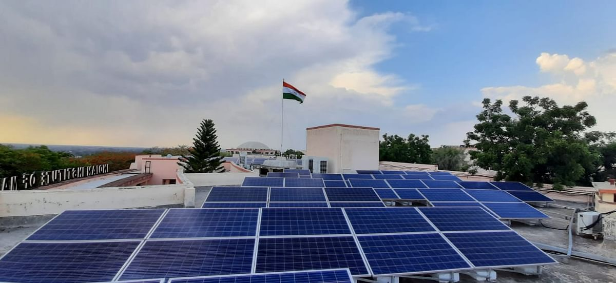 Indore: IIM Indore installs rooftop solar panels, encourages a sustainable environment