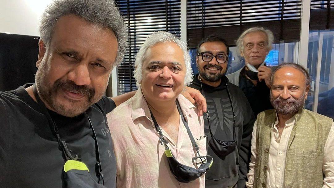 Directors Anubhav Sinha, Hansal Mehta, Anurag Kashyap reunite over samosas, Dia Mirza says 'Diggaj log'