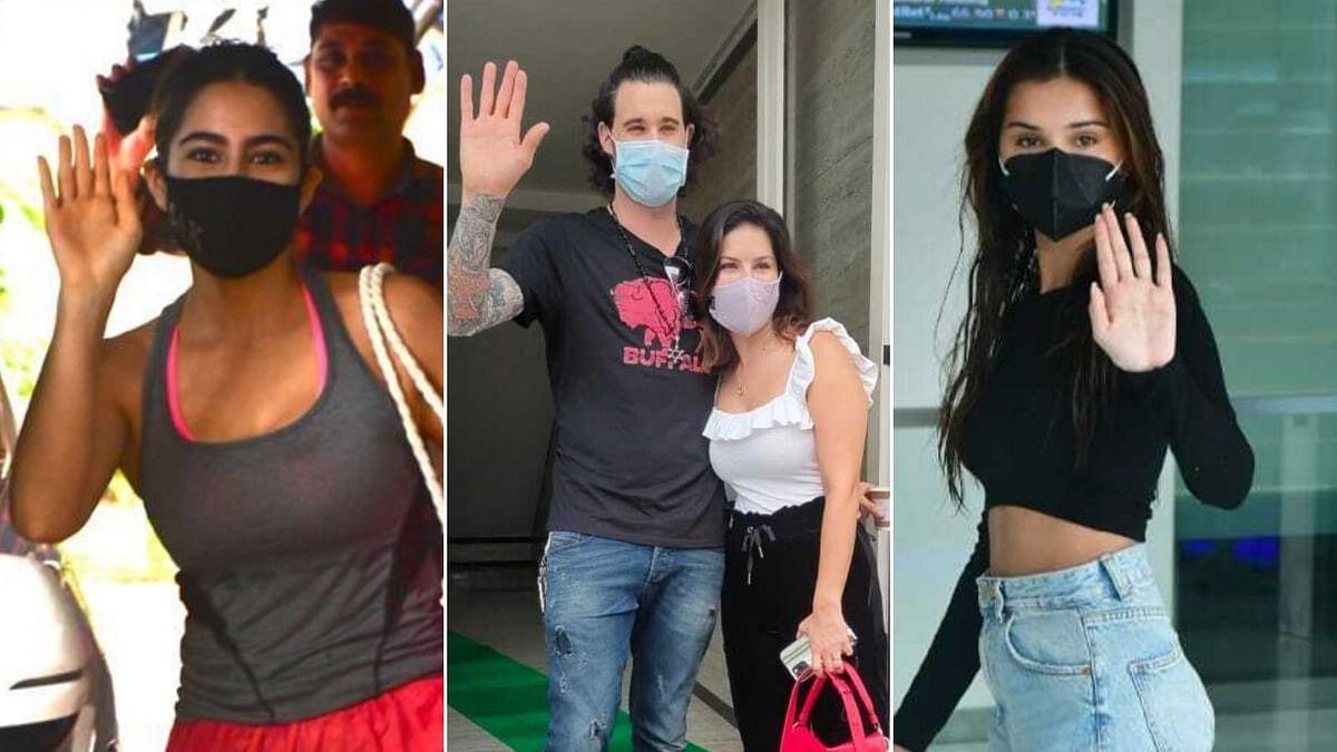 Photos: Tara Sutaria, Sunny Leone, Sara Ali Khan and other B-Town celebs spotted in Mumbai