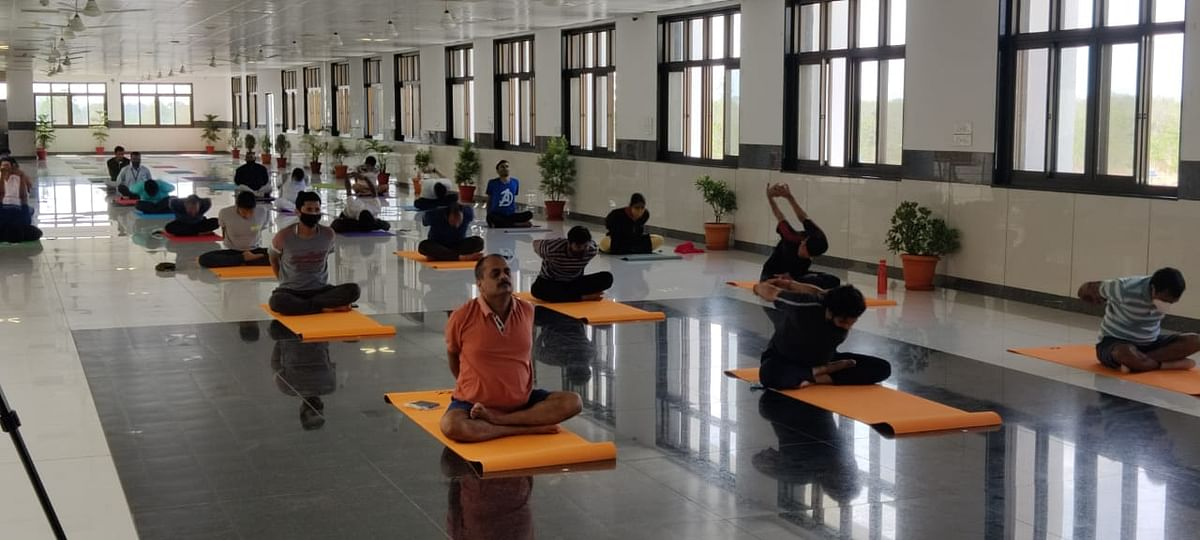 International Day of Yoga was celebrated at IIT Indore on Monday