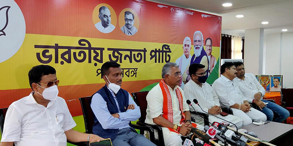 West Bengal, June 08 (ANI): West Bengal Bharatiya Janata Party organizational meeting held at Hastings Party Office, in Kolkata on Tuesday.