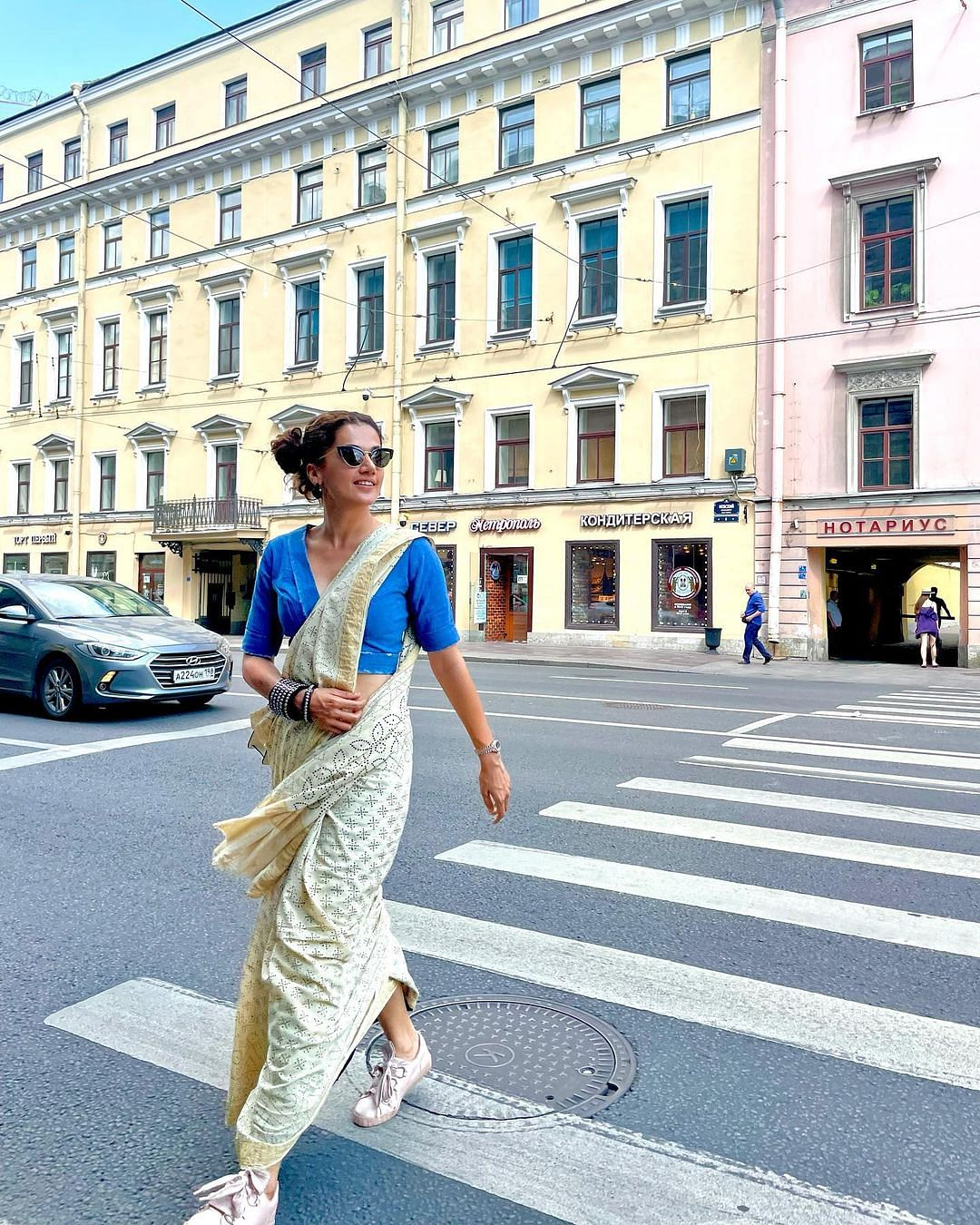 Taapsee Pannu in Russia