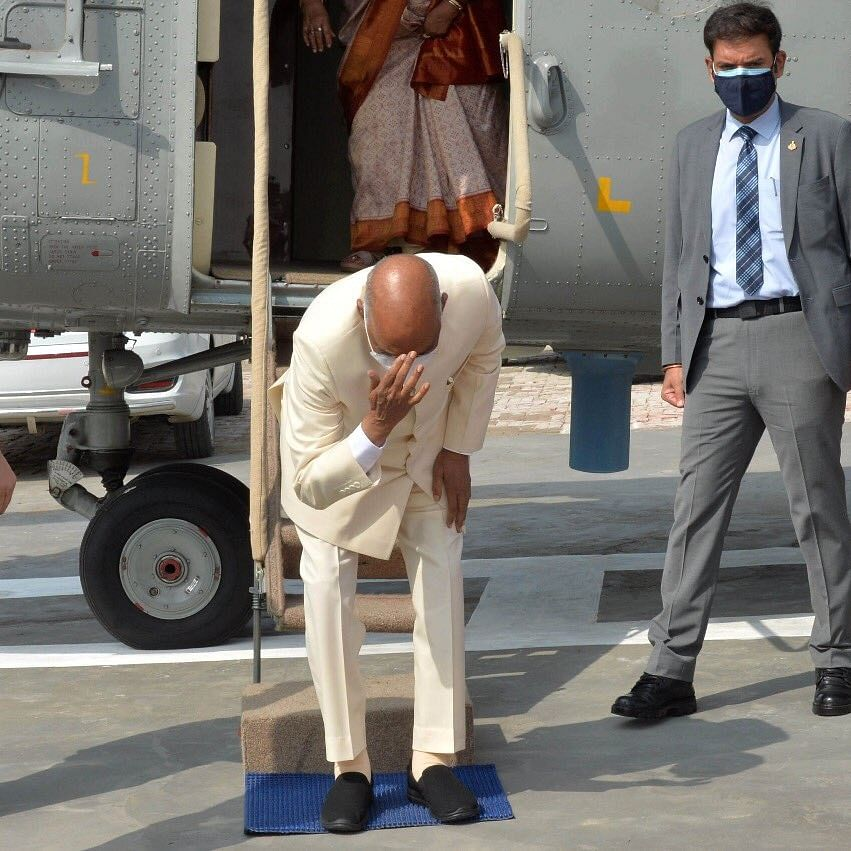 'Rare emotional gesture': President Ram Nath Kovind bows down to his birthplace