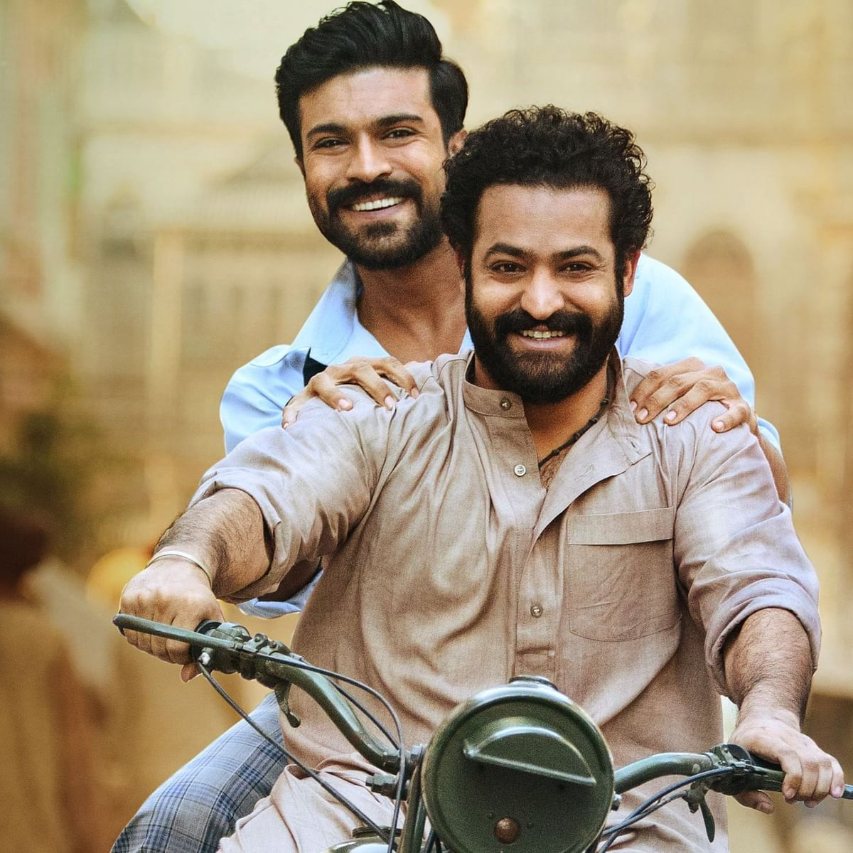 SS Rajamouli's 'RRR' shoot 'moving at rapid pace', makers share new poster featuring Jr NTR and Ram Charan