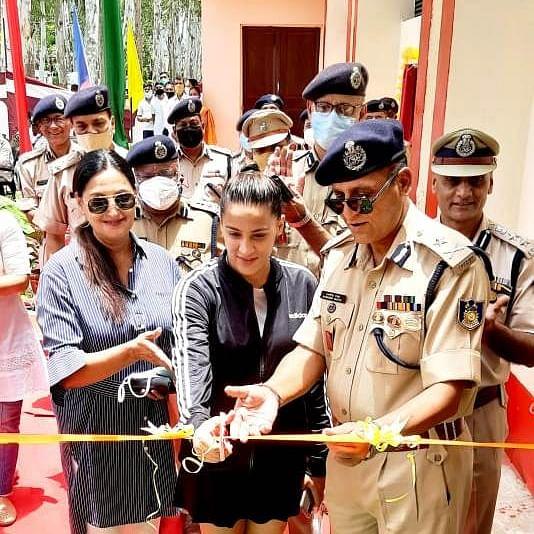 Randeep Dutta inaugurates up-graded badminton court arena of GC CRPF, Imphal