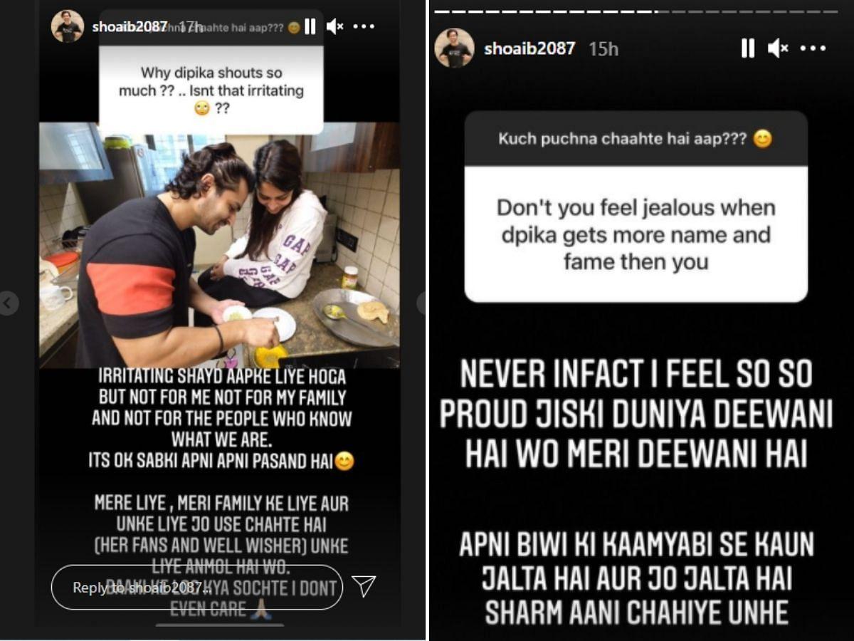 Shoaib Ibrahim gives a classy reply to troll who asked if he's jealous of wife Dipika Kakar's popularity