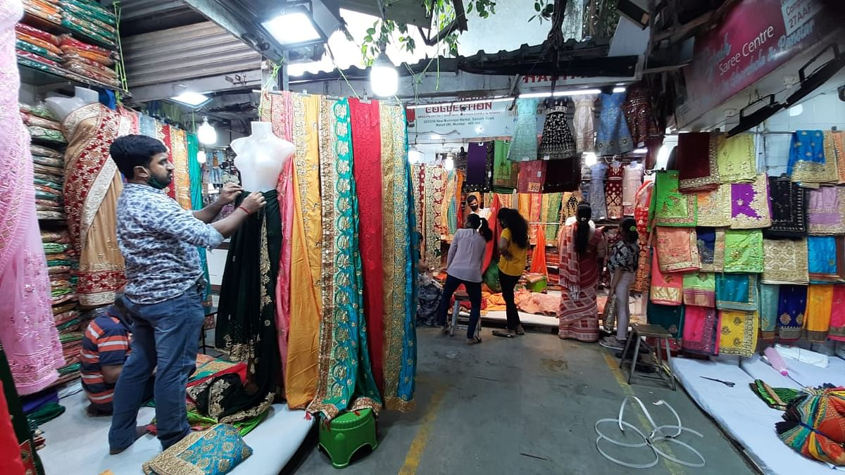 People were seen shopping in Mumbai after the government announced the easing of Covid-induced restrictions in city.