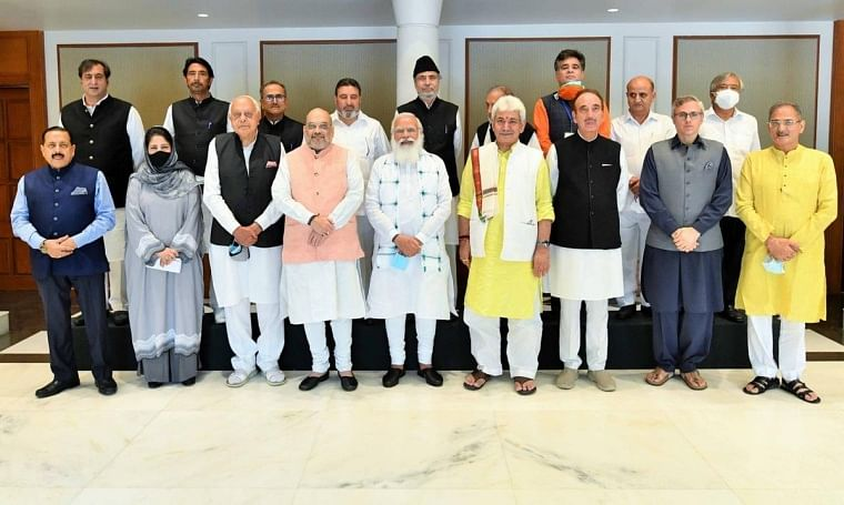 PM Modi's all-party meeting on Jammu and Kashmir begins; Mehbooba Mufti, Farooq Abdullah, Ghulam Nabi Azad and others present at the meet