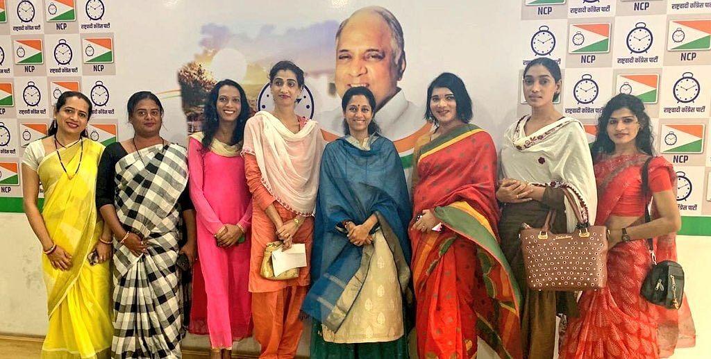 Supriya Sule, Priya Patil and members of the community
