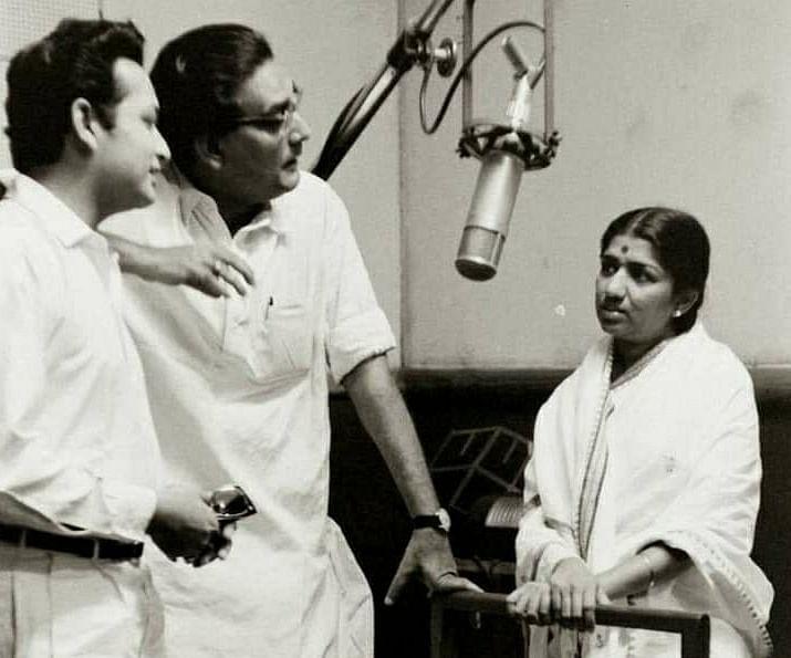 Biswajit with Hemant Kumar  and Lata Mangeshkar