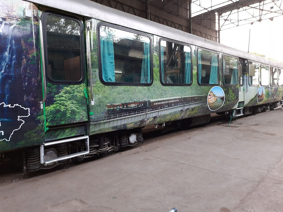 The basic amenities in train will include wide window panes and glass rooftop
