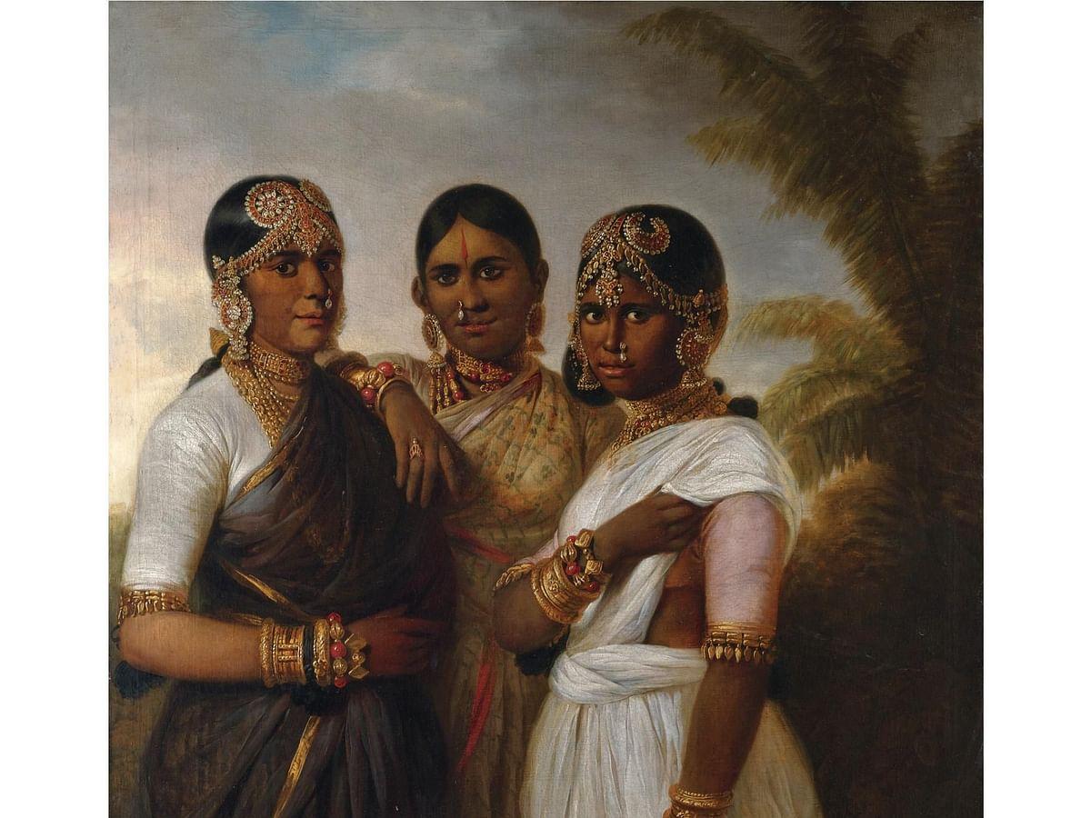 Three Royal Princesses of Mysore; Thomas Hickey; 1806